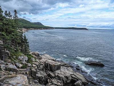 Photograph - Coastal Landscape From Ocean Path Trail, Acadia National Park by NaturesPix