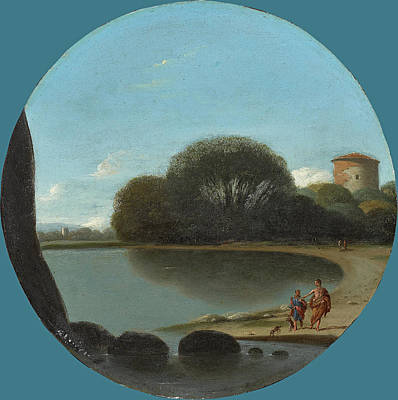 Painting - Coastal Landscape With Figures by Gottfried Wals