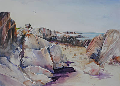 Painting - Coastal Lookout  by P Anthony Visco