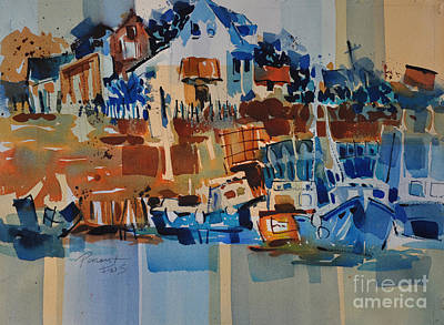 Painting - Coastal Marina 2 by Roger Parent