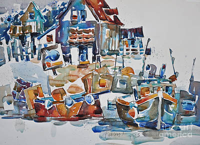 Painting - Coastal Marina by Roger Parent