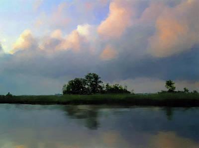 Southern Landscape Painting - Coastal Marsh No. 5, South Carolina by Marcum and Marcum