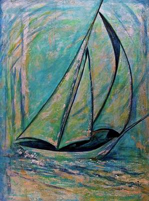 Painting - Coastal Metallic by Debi Starr