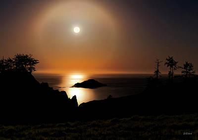 Photograph - Coastal Moon Dog by Leland D Howard