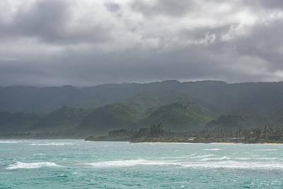 Photograph - Coastal Mountains - Stormy Skies On Oahu Island North Shore by Georgia Mizuleva