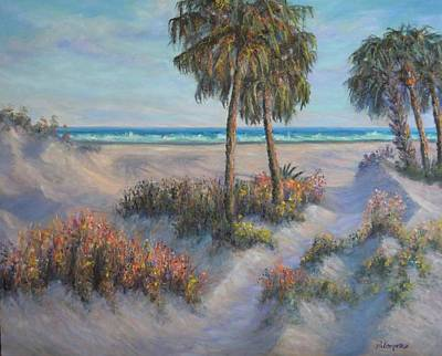Painting - Coastal Painting Beach Path Sand Dunes  by Amber Palomares