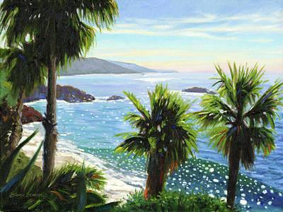 Laguna Beach Wall Art - Painting - Coastal Palms by Steve Simon