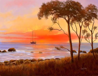 Art Print featuring the painting Coastal Paradise by Sena Wilson