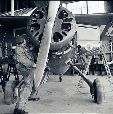 Photograph - Coastal Patrol Plane In 1943 by Carlos Diaz