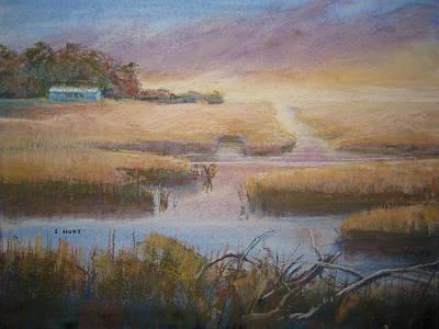 North Sea Painting - Coastal Quiet by Shirley Braithwaite Hunt
