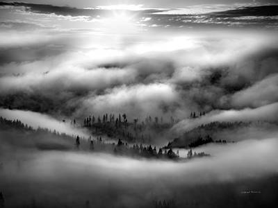 Coastal Range Bw Art Print by Leland D Howard