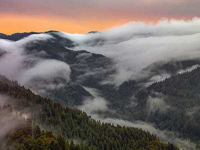 Photograph - Coastal Range Color And Light by Leland D Howard