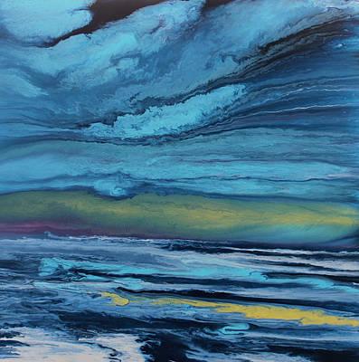 Abstract Seascape Painting - Coastal Reflections by KImberly Conrad