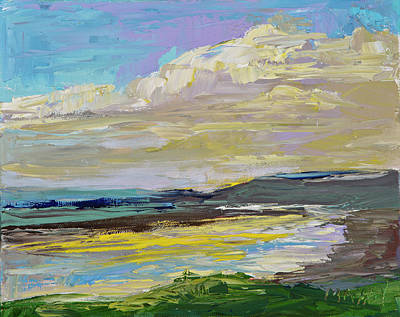 Painting - Coastal River by Marie Massey