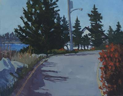 Maine Roads Painting - Coastal Road by Bill Tomsa