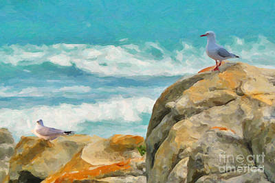 Painting - Coastal Rocks by Chris Armytage