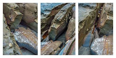 Photograph - Coastal Rocks Collage by Alexander Kunz