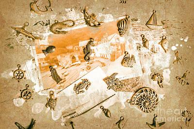 Coastal Romantics Art Print