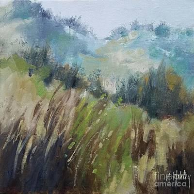 Painting - Coastal Slopes Dune Grass Beach by Mary Hubley