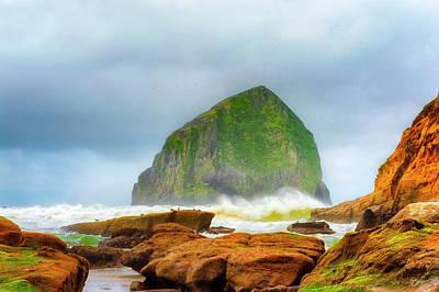 Photograph - Coastal Storm At Haystack by Dee Browning