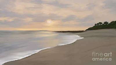 Mixed Media - Coastal Sunrise by Anthony Fishburne