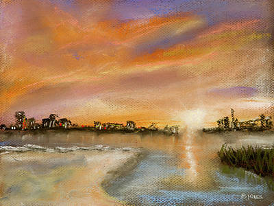 Painting - Coastal Sunset by Barry Jones