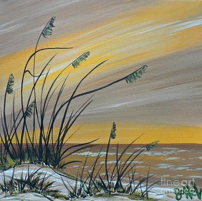 Painting - Coastal View Beige by JoNeL Art