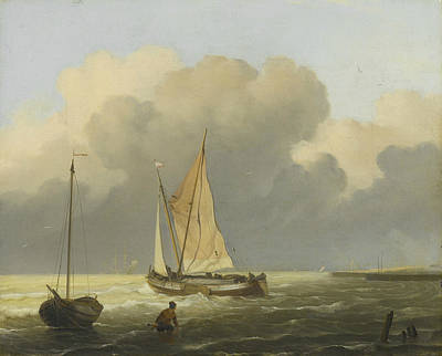 Painting - Coastal View by Ludolf Bakhuizen