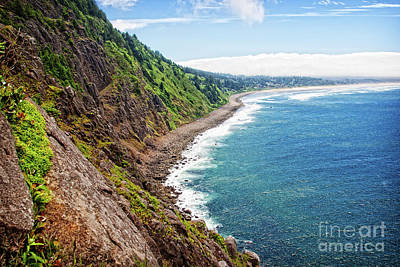Photograph - Coastal View Toward Manzanita by Lincoln Rogers
