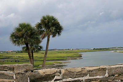 Coastal Views At St. Augustine Print by Toni Hopper