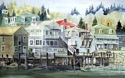 Painting - Coastal Village by Douglas Teller