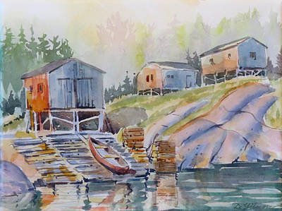 Painting - Coastal Village - Newfoundland by David Gilmore