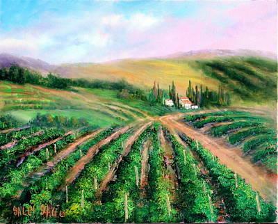 Coastal Vineyards Original by Sally Seago
