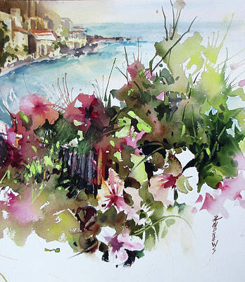 Painting - Coastal Vista 2, Spain by Rae Andrews