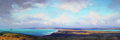 Nature Scene Painting - Coastal Vista Nsw by Graham Gercken