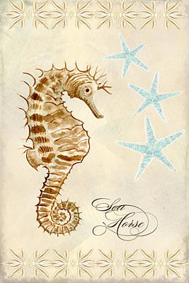 Painting - Coastal Waterways - Seahorse Dance by Audrey Jeanne Roberts