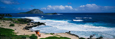 Peace Tower Photograph - Coastal Waves On Makapuu Beach by Panoramic Images