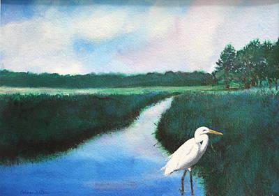 Coastal Wetlands Art Print