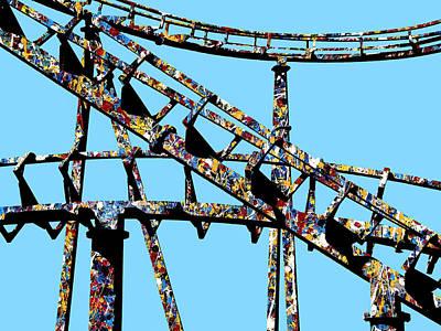 Rollercoaster Mixed Media - Coaster by Dominic Piperata