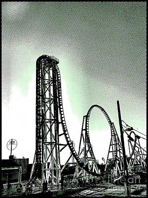 Photograph - Coaster Thrills  by Onedayoneimage Photography