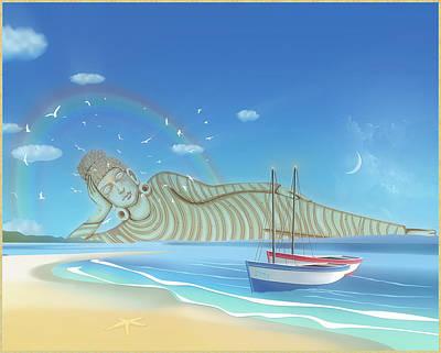 Digital Art - Coastguard by Harald Dastis