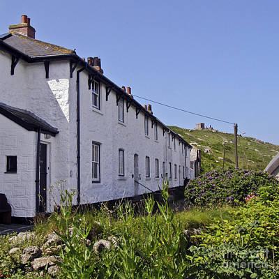Coastguard Cottages Photograph - Coastguards Row Sennen Cove by Terri Waters