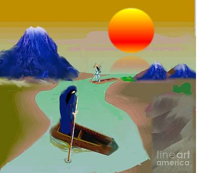 Painting - Coasting Downstream by Belinda Threeths