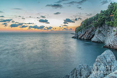 Photograph - Coastline At Petrovac by Antony McAulay