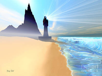 Coastline Art Print by Corey Ford