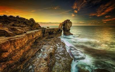 Landscapes Digital Art - Coastline by Maye Loeser
