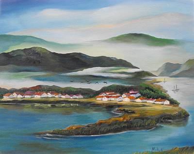 Coastline Art Print by Min Wang