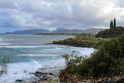 Photograph - Coastline Near Lihue by Bonnie Follett