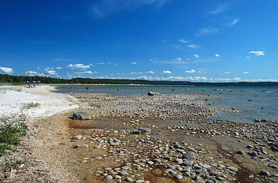 Coastline Of Lake Michigan  Near Petoskey State Park - Little Traverse Bay Art Print