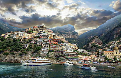 Photograph - Coastline Of Positano by Anthony Dezenzio